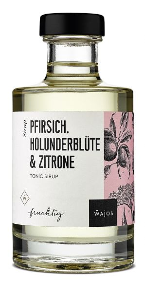 PFIRSICH, HOLUNDERBLÜTE & ZITRONE - Tonic Sirup