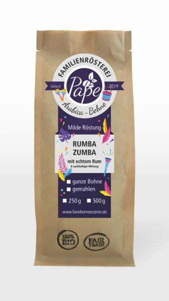 Rumba Zumba Kaffee mit echtem Rum abgeschreckt